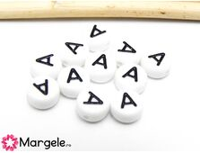 Margele acrilice litera a 7x4mm  (10buc)