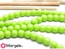 Margele sticla 6mm verde deschis opac (10buc)
