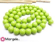 Margele sticla 8mm verde deschis opac (1buc)