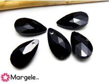 Pandantiv sticla 16x9mm negru