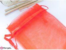 Saculet organza 9x7cm rosu