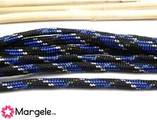 Snur paracord 4mm albastru si negru