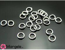 Zale 4mm argintiu (aprox. 100buc)