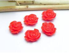 Cabochon rasina trandafir 13mm rosu