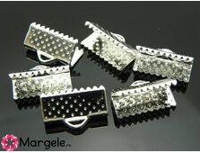 Capat de snur 16x8x5mm argintiu (10buc)