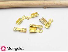 Capat de snur 8x2mm auriu (10buc)