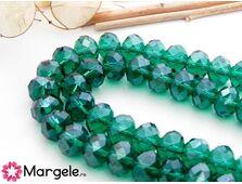 Cristal rondel 8x6mm smarald
