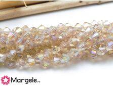 Cristale biconice 4mm bej (10buc)