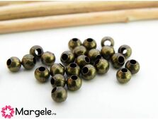 Margele decorative 3.5mm bronz (50buc)