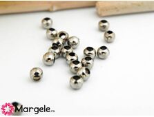 Margele decorative 3mm argintiu inchis (50buc)