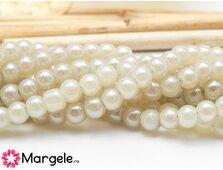 Margele sticla electroplacate 4mm ivory (10buc)