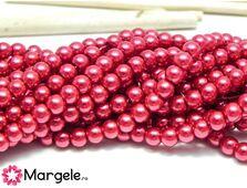 Perle de sticla 4mm cherry (10buc)