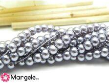 Perle de sticla 4mm gri (10buc)