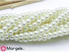 Perle de sticla 4mm ivory inchis (10buc)