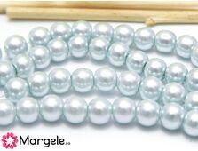 Perle de sticla 6mm albastru pal (10buc)