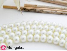 Perle de sticla 6mm ivory (10buc)