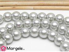 Perle de sticla 8mm gri deschis (10buc)