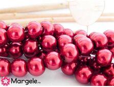 Perle de sticla 8mm rosu (10buc)