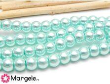 Perle de sticla 8mm turcoaz (10buc)