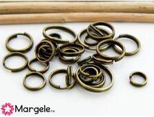 Zale simple 4~10mm bronz (aprox. 100buc)