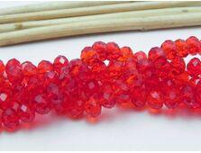 Cristal rondel 6x4mm rosu (1buc)