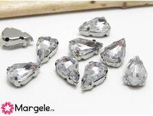 Distantier montee cu rhinestone 10x6mm crystal