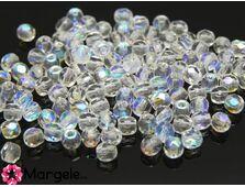 Fire polish 3mm crystal ab (20buc)