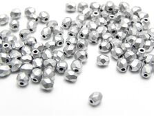 Fire polish 3mm matte metallic silver (20buc)