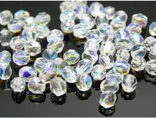 Fire polish 4mm crystal ab (20buc)