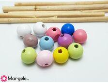 Margele de lemn sfere 10x9mm (10buc)