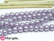 Perle de sticla 6mm mov lila (10buc)