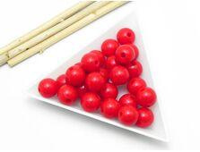 Margele acrilice rotunde 10mm rosu (10 buc)