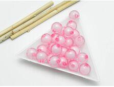 Margele acrilice rotunde 10mm roz (10 buc)