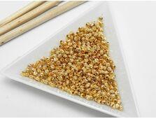 Margele decorative 3mm placate cu aur cu striatii (10buc)