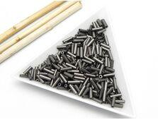 Margele de nisip 6mm matte metalic grey (10g)