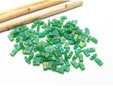 Miyuki Half Tila Matte Transparent Green AB 5g