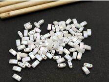 Miyuki Half Tila Opaque White Pearl AB 5g