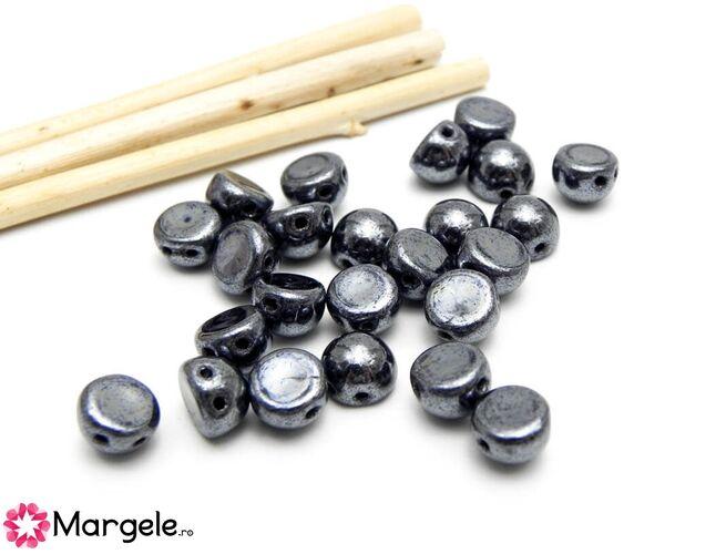 Cabochon 7mm hematite (10buc)