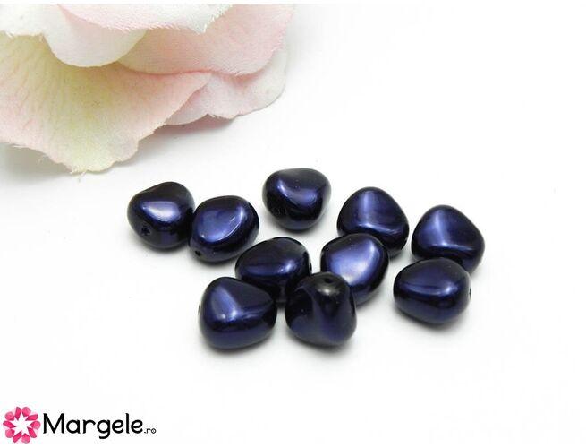 Perle preciosa elliptic 11x9.5mm dark blue (1buc)