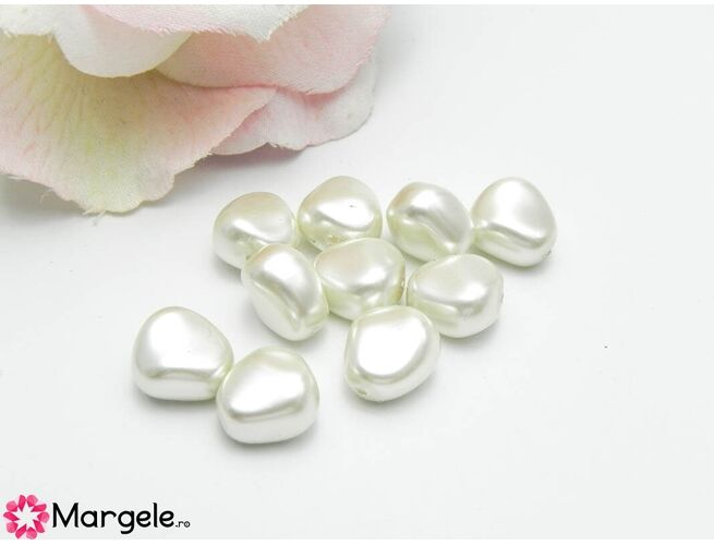 Perle preciosa elliptic 11x9.5mm white (1buc)