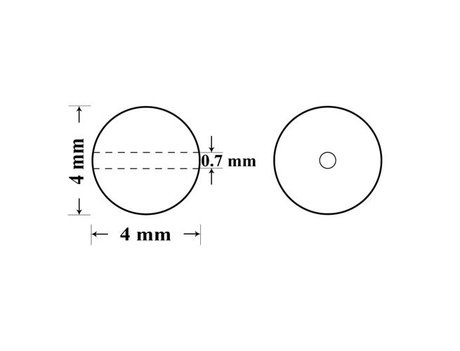 Perle preciosa maxima 4mm bordeaux (1buc)