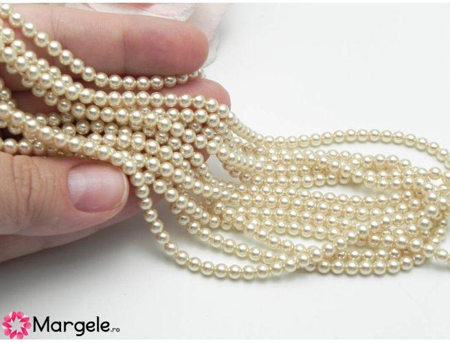Perle preciosa maxima 4mm cream (1buc)