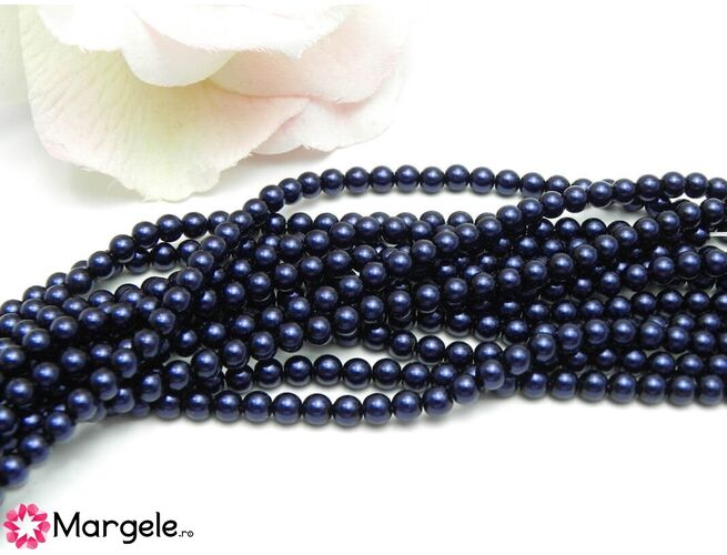 Perle preciosa maxima 4mm dark blue (1buc)