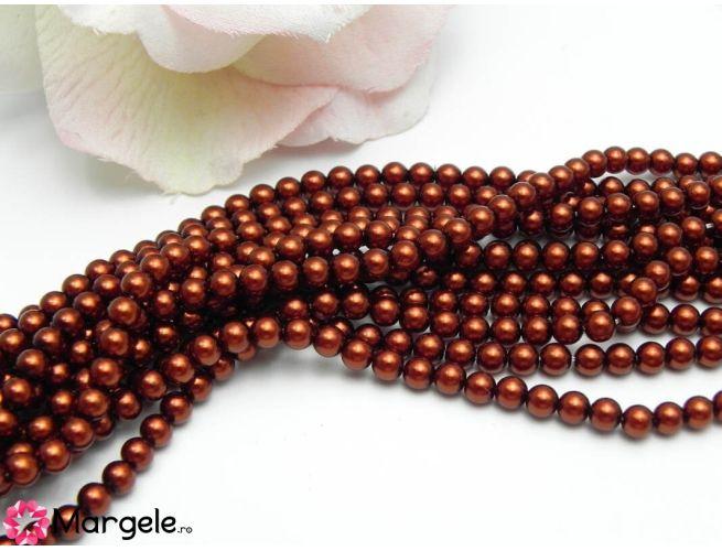 Perle preciosa maxima 4mm dark copper (1buc)