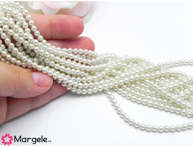 Perle preciosa maxima 4mm white (1buc)