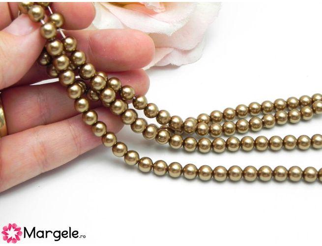 Perle preciosa maxima 6mm bronze (1buc)