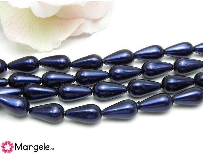 Perle preciosa pear 15x8mm dark blue (1buc)