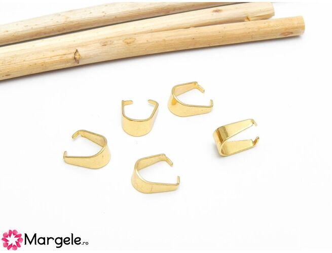 Agatatoare pandantiv otel inoxidabil auriu 8x4mm (1buc)