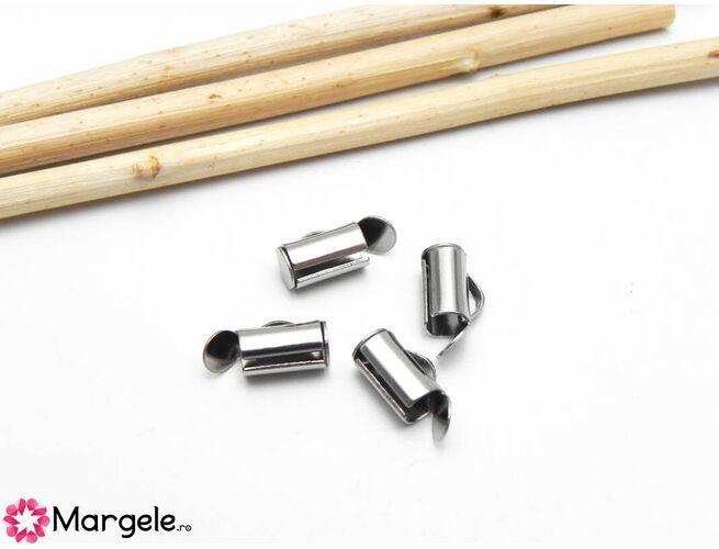 Capat miyuki/toho slide tube otel inoxidabil 8x5.5x4mm (2buc)