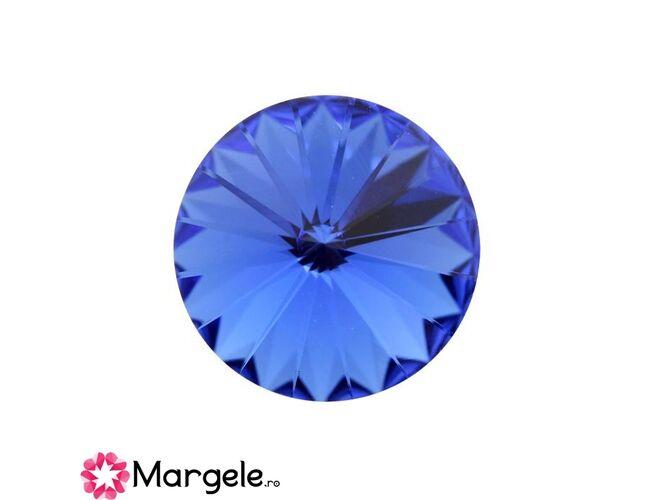 Cristal preciosa rivoli maxima ss47 - 10mm sapphire (1buc)